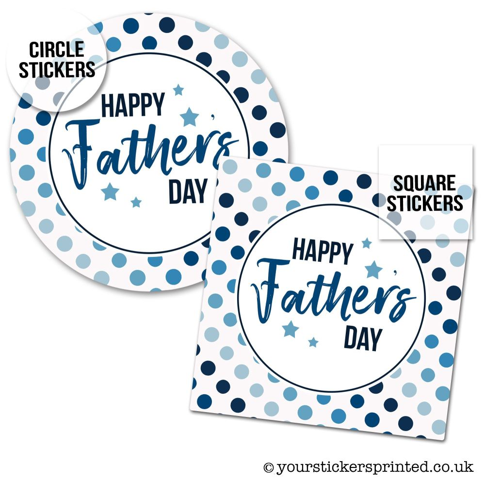 Father's Day Stickers Polka Dots
