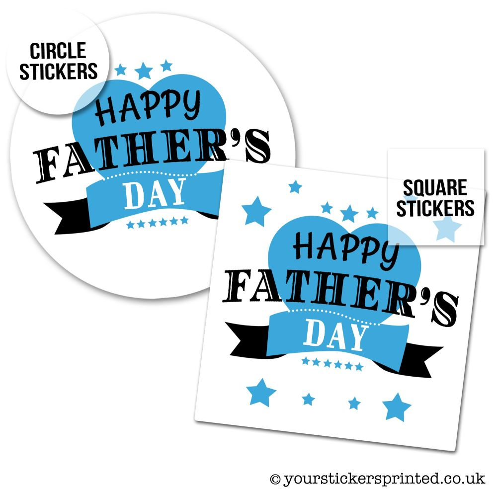 Father's Day Stickers Banner And Stars