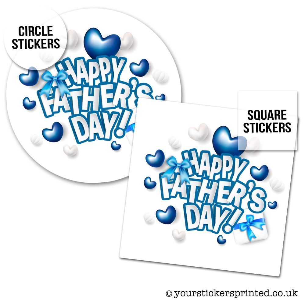 Father's Day Stickers Heart Balloons