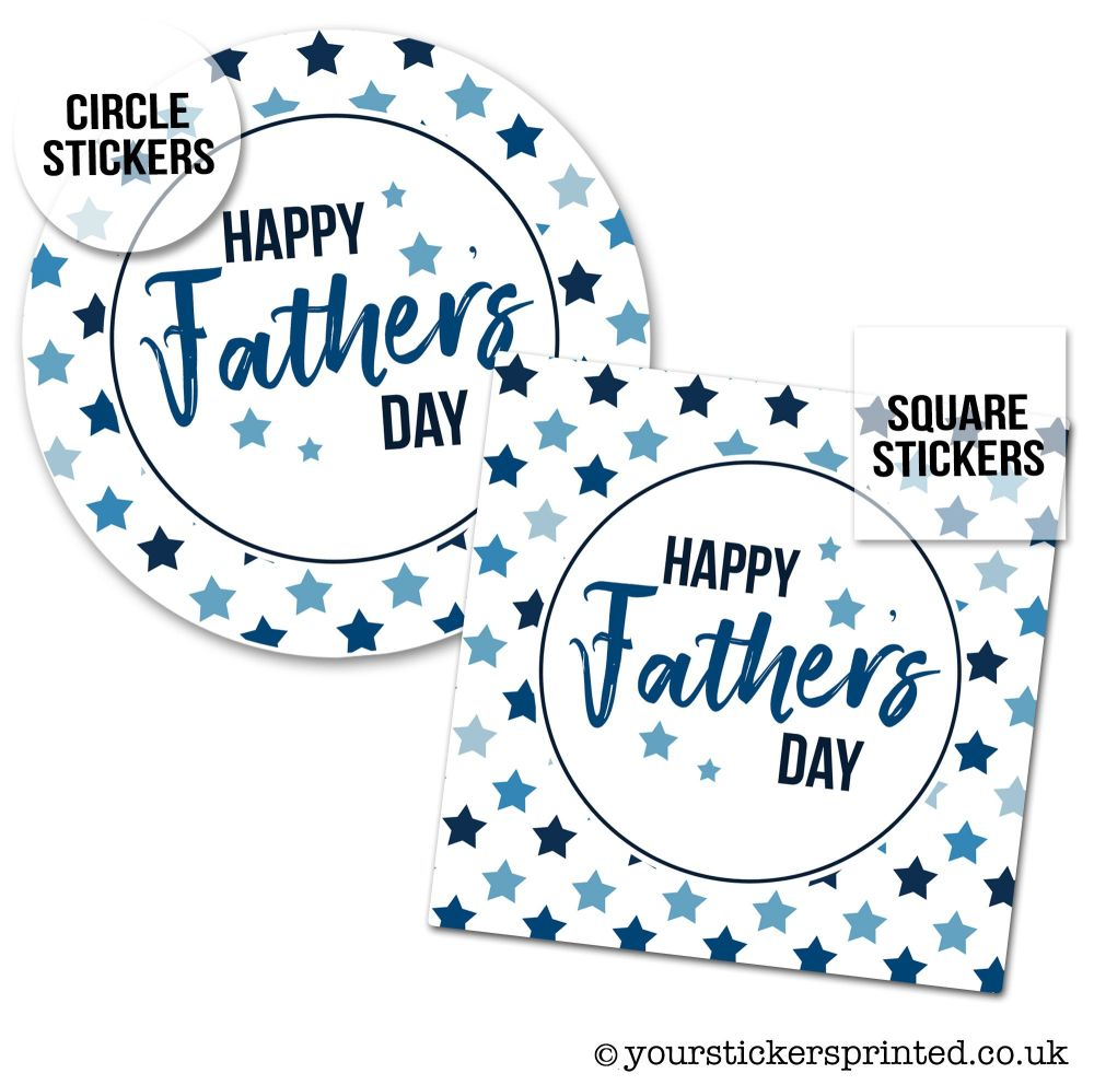 Father's Day Stickers Polka Dots Stars