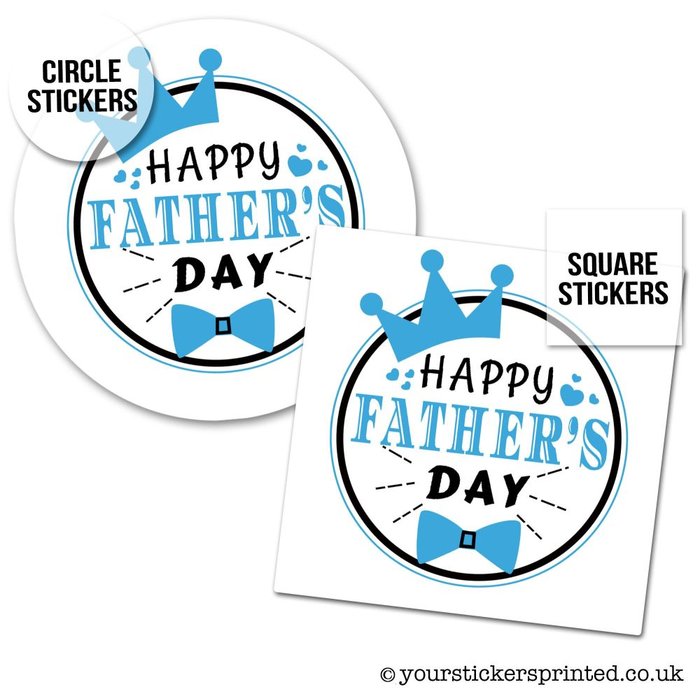 Father's Day Stickers Crown And Bowtie