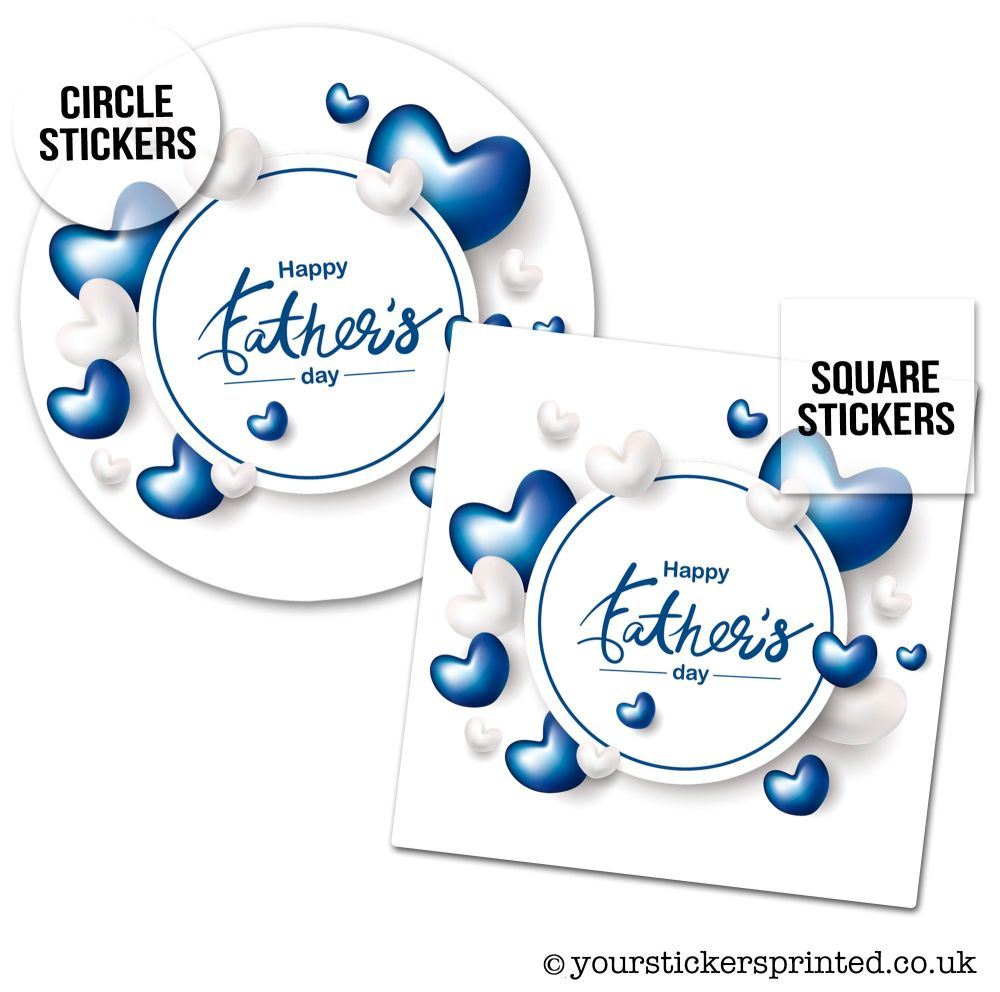 Father's Day Stickers Hearts