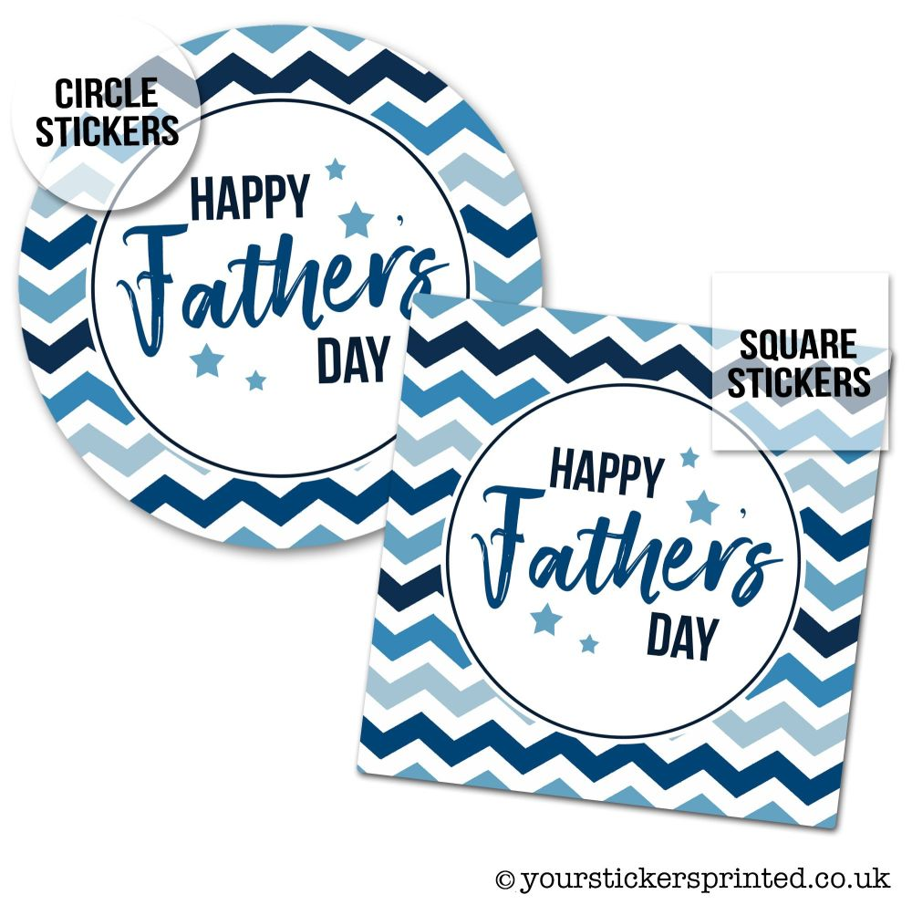 Father's Day Stickers Checkerboard