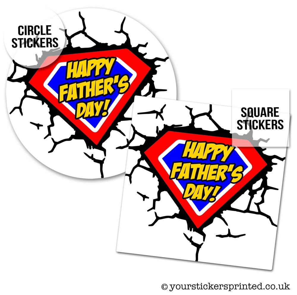 Father's Day Stickers Superhero
