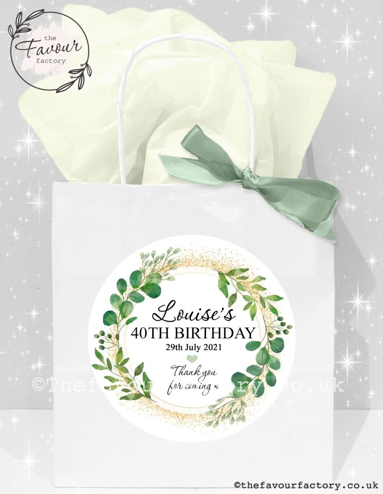 Adult Birthday Party Bags Botanical Gold Dust x1
