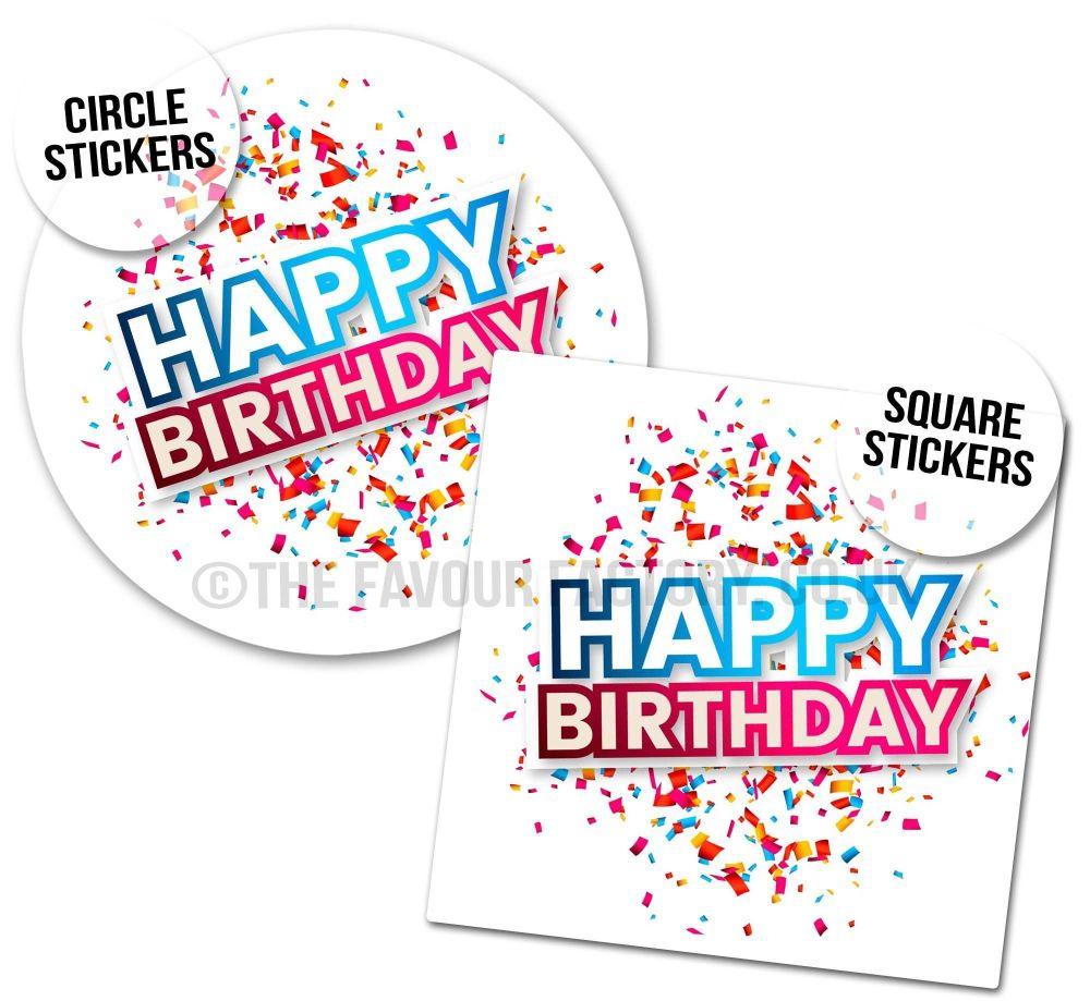 Birthday Stickers Confetti