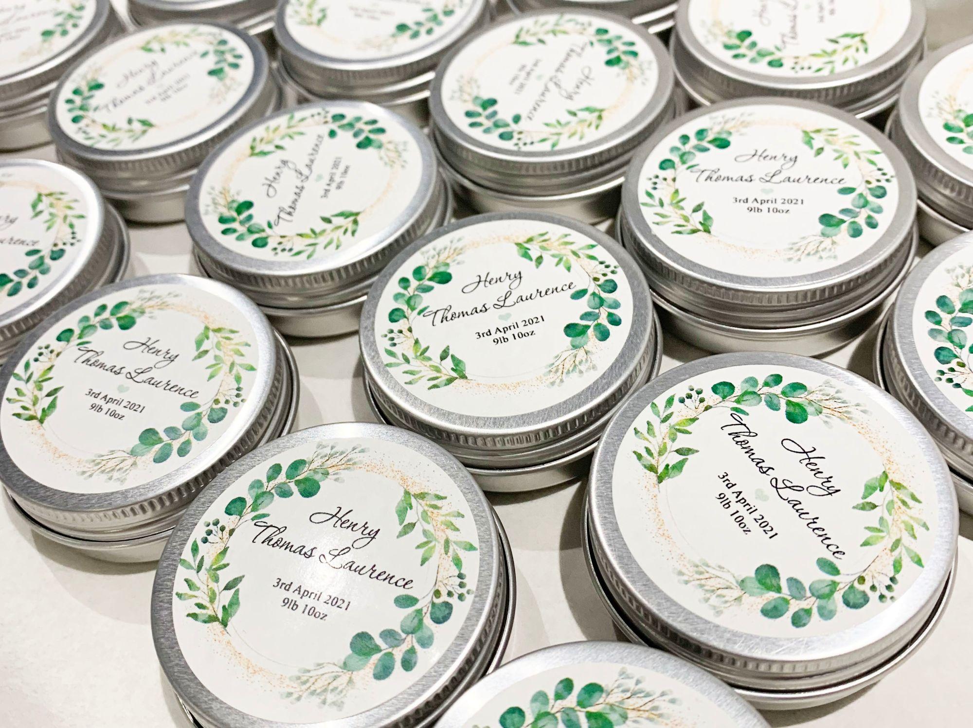personalised favour tins keepsakes