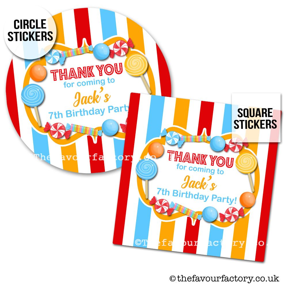 Childrens Party Stickers