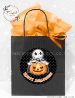 Halloween Party Bags Skeleton & Pumpkin x1