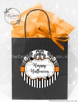 Halloween Party Bags Vintage Damask Stripes x1