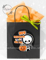 Halloween Party Bags Boo Treats For You Skeleton x1