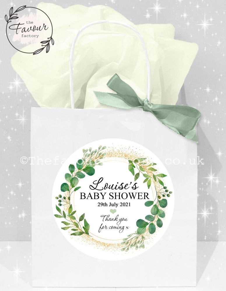 Baby Shower Party Bags Botanical Gold Dust x 1