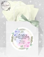Baby Shower Party Bags Pink & Blue Roses x 1