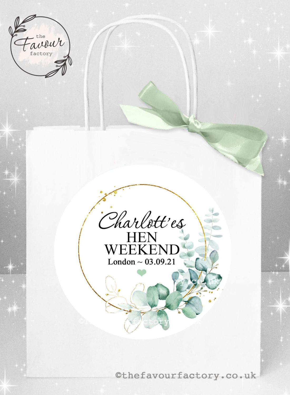 Hen Party Bags Elegant Eucalyptus x 1