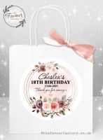 Personalised Hen Party Bags Autumn Watercolour Floral Frame x 1
