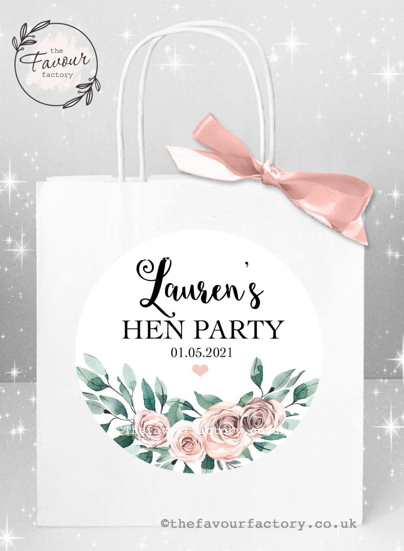 Hen Party Bags Boho Floral Bouquet x 1