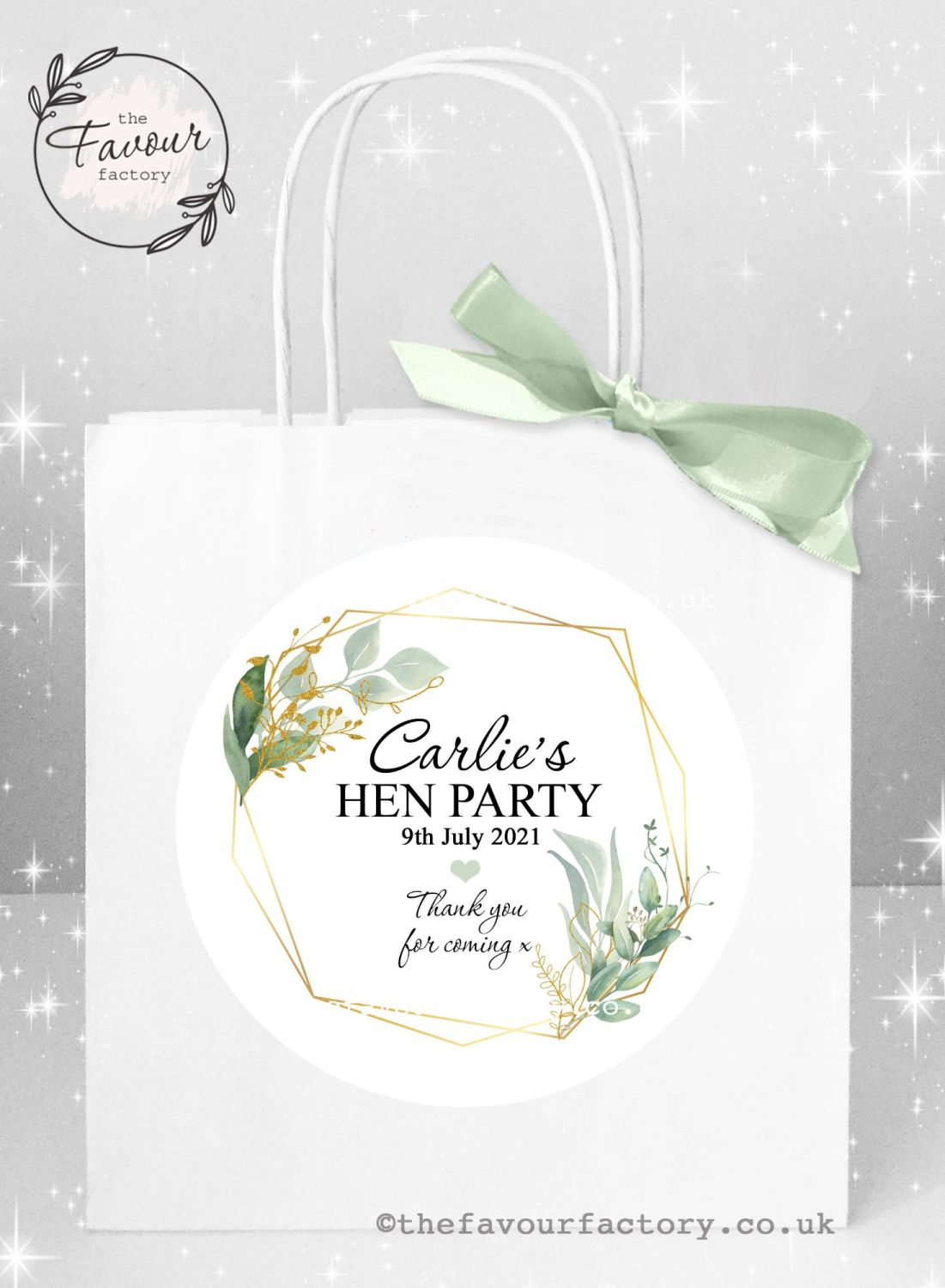 Personalised Hen Party Bags Geometric Botanicals x 1