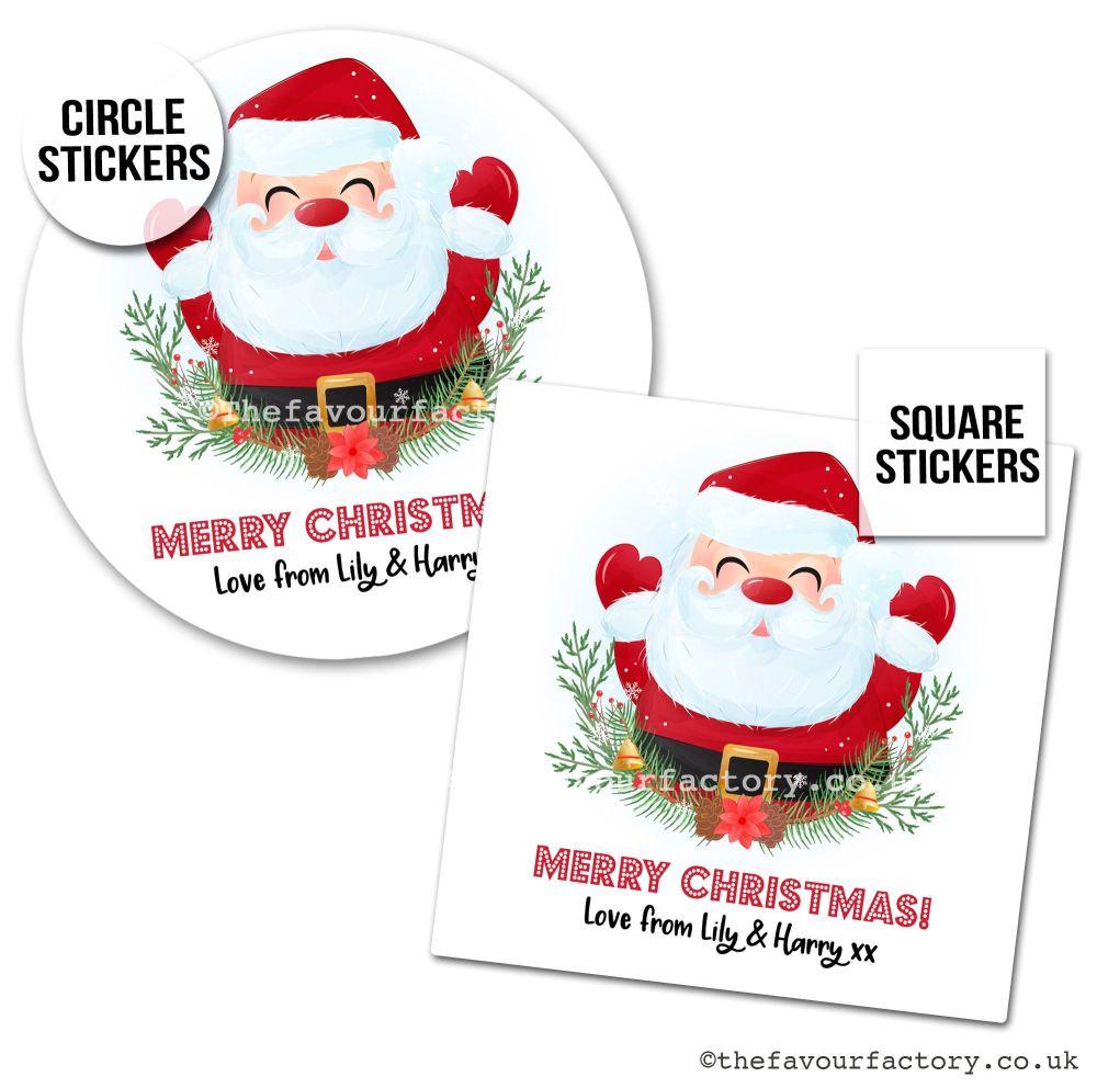Christmas Stickers Happy Santa x1