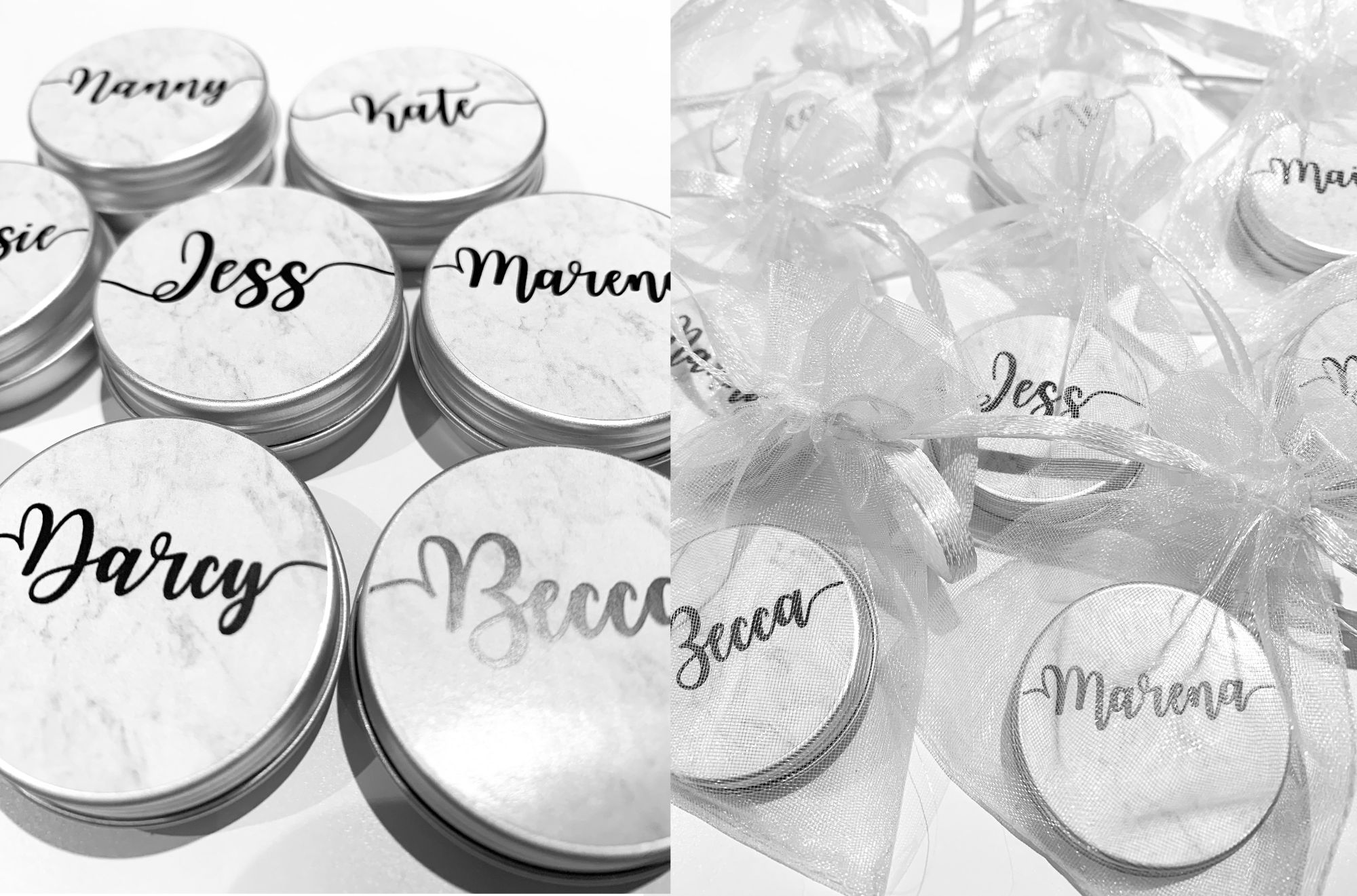 Personalised lip balm favours