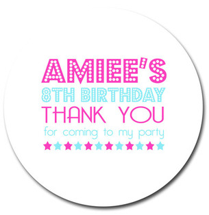 Personalised Party Stickers Dazzle