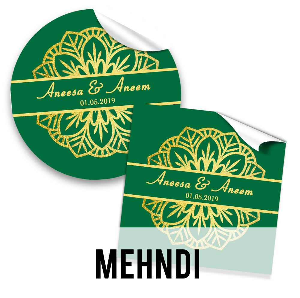Mehndi Stickers & Favours