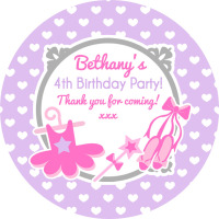 Personalised Stickers Ballet Theme.