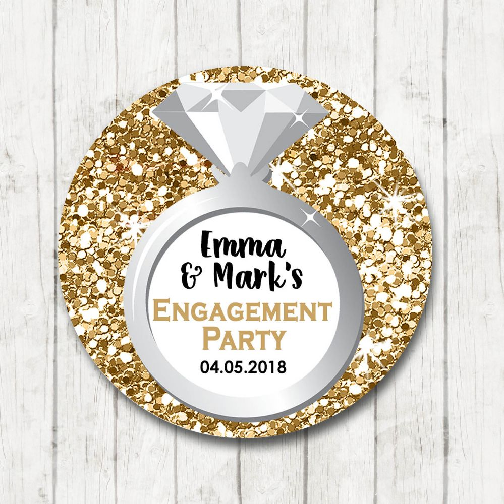 Engagement Party Stickers