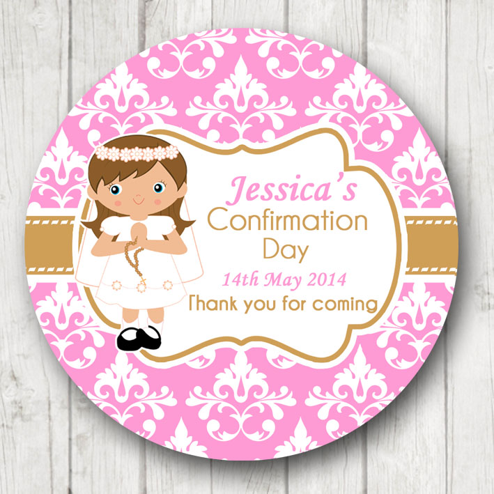 personalised Holy Communion confirmation Stickers