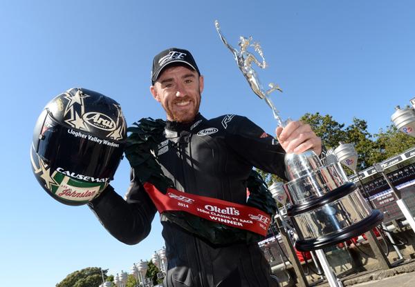 2014 350cc Classic TT winner Lee Johnston