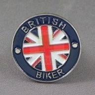 British Biker Pin, Fat Maggot Clothing