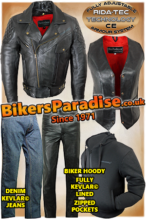 Bikers Paradise, motorcycle clothing, leather, Midlands,