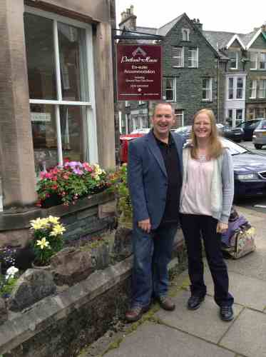 Pre-Honeymooners at Portland House Keswick - winners of our competit