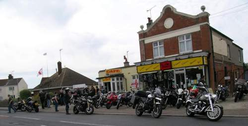 The Fossils Cafe, Shop, Biker Friendly, Clacton-on-Sea, Essex