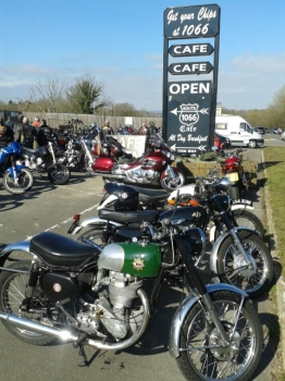 Route 1066 Cafe, Bikers welcome, Battle, East Sussex