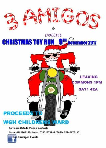 Three Amigos Annual Toy Run, Pembroke, South West Wales