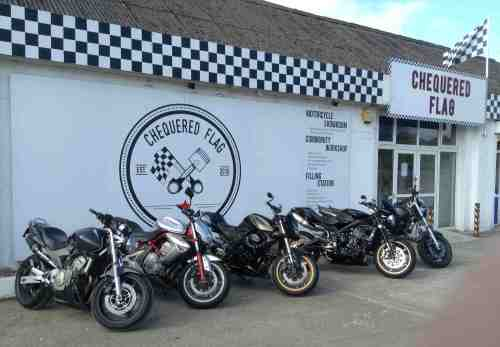 Chequered Flag, Bikers welcome Cafe, Liskeard, Cornwall