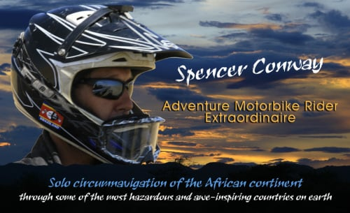 Spencer Conway circumnavigated Africa by motorbike