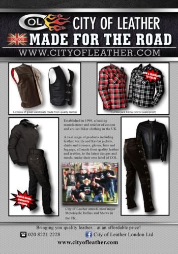 THE BIKER GUIDE - 5th edition, City of Leather