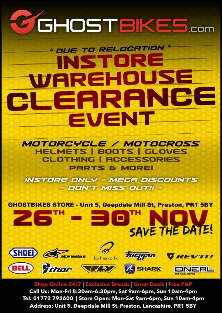 Massive warehouse Clearance Event, GhostBikes, Preston