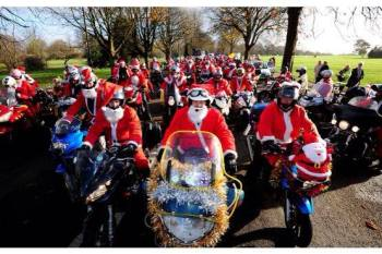 Santas On A Bike, Toy Run, Cornwall, Devon, Bristol