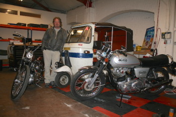 Charley Boorman in his Garage