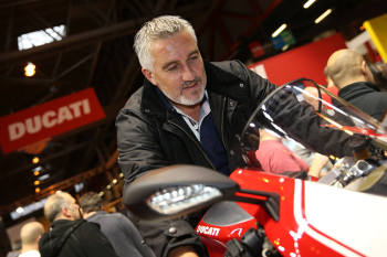 Paul Hollywood with the Ducati Panigale R