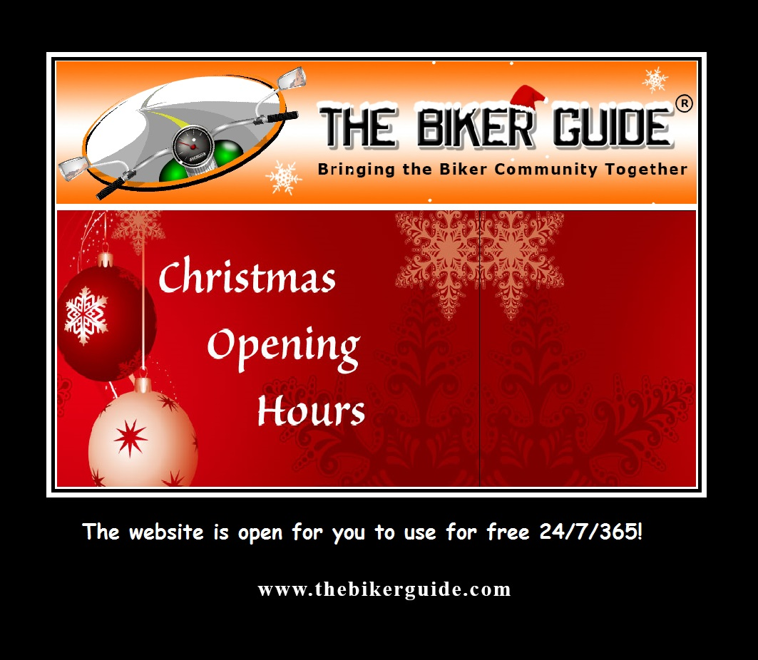 THE BIKER GUIDE opening hours