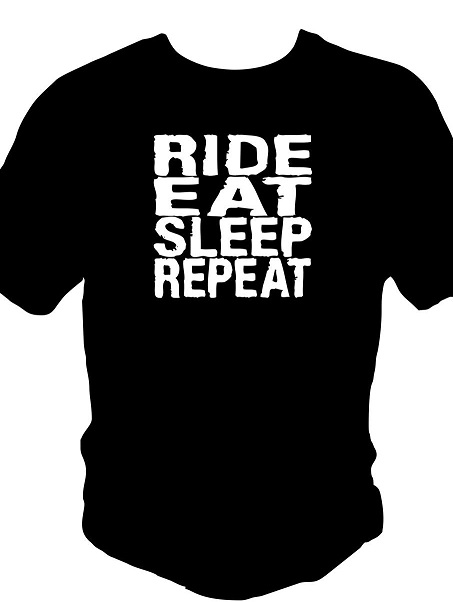 RIDE EAT SLEEP REPEAT t-shirt front