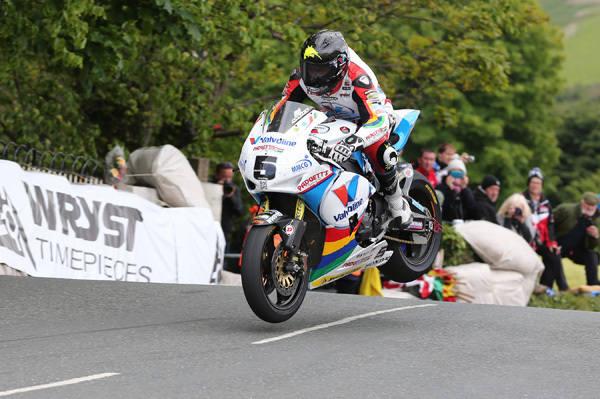Bruce Astley jumps Ballaugh Bridge