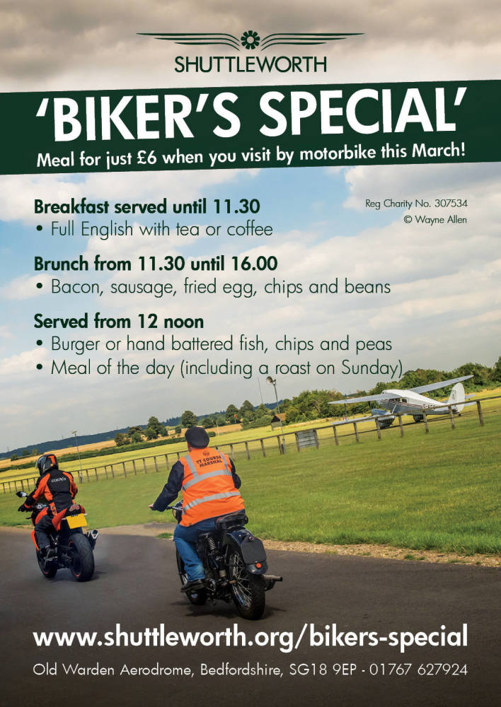 Bikers special, Shuttleworth Collection, March
