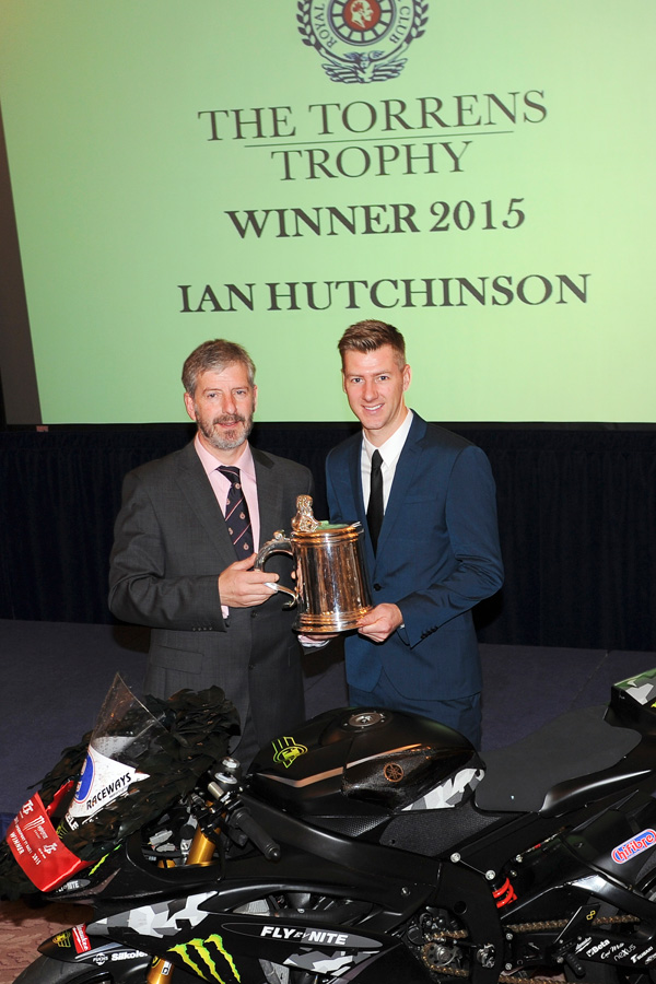 Isle of Man TT road racer Ian Hutchinson awarded the Royal Automobile Clubs