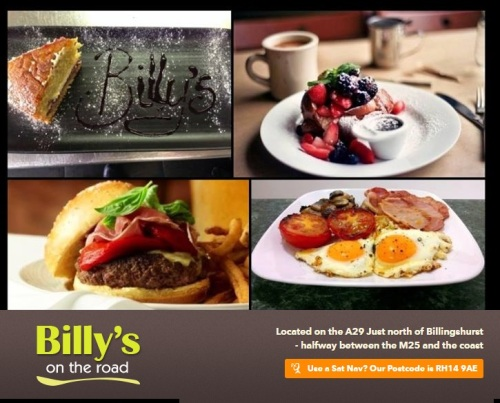 Billys On The Road, Biker Friendly Cafe, Billingshurst, West Sussex