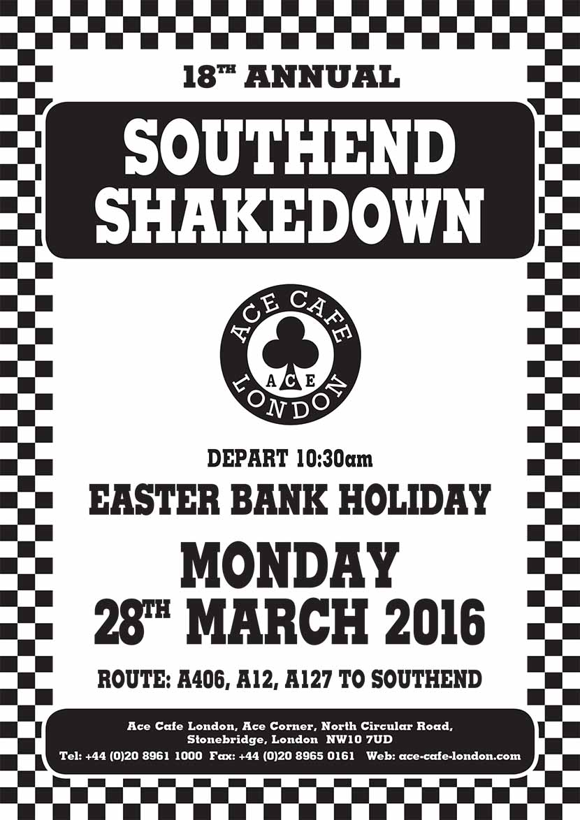 18th Annual Southend Shakedown, Ace Cafe