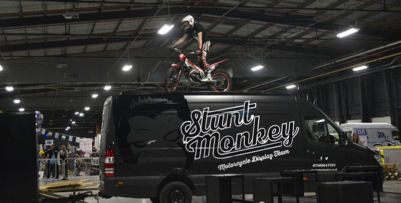 Manchester Bike Show, Enjoy the live action zone - Stunt shows, live music